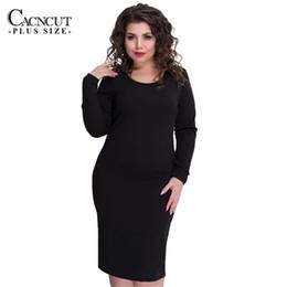 5XL 6XL solid dresses large sizes big plus size office dress black winter  dress bodycon zipper women clothing 2018 vestidos 9b921c814790