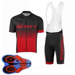 $enCountryForm.capitalKeyWord NZ - Scott team Cycling Short Sleeves jersey (bib) shorts sets new Breathable Bike Clothing Quick Dry Bicycle Sportwear 92838J