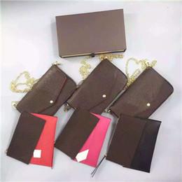 Felicie Orignal Echtes Echtes Leder Modekette Schultertasche Handtasche Presbyopic Mini Paket Umhängetasche Handy Kartenhalter Geldbörse 6127