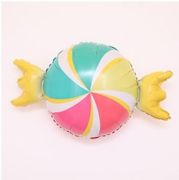 SweetS for baby Shower online shopping - Birthday Party Ballons Baby Shower Sweet rainbow candy Foil Balloon Inflatable toy for wedding birthday decoration