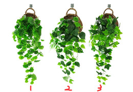 fake vines decoration UK - Artificial Ivy & Silk Fake Ivy Leaves Hanging Vine Leaves Garland for Wedding Party Garden Wall Decoration (Sweet Potato Leaves)