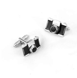 Chinese  Mini Camera Cufflinks Jewelry for Birthday Favor Gift for mens Brand cuff buttons cuff links High Quality manufacturers