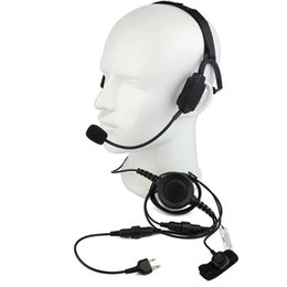 TacTical headseTs pTT online shopping - Finger PTT MIC Military Bone Conduction Tactical Headphone Headset for ICOM V8 F3 F4S Vertex VX Radio Walkie Talkie C2216A