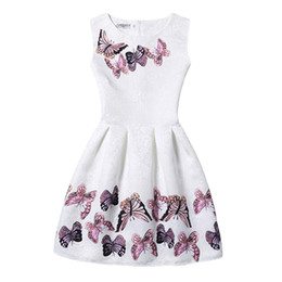 $enCountryForm.capitalKeyWord UK - Flower Girls Dress Summer 2016 Casual Sleeveless Vintage Dresses Butterfly Floral Print Party Frocks Teenager 11-20 Years GD28
