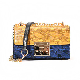 BEWITU Brands Fashion Luxury Designer Handbags Serpentine Pattern Leather  Shoulder Strap Handbag Woman Personality Hand Bag c5d5cb92aa7fe
