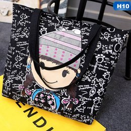 4c483aa194b4 Large Black Canvas Tote Bag Fabric Cotton Cloth Reusable Shopping Bag Women  Beach Handbags Cats Printed Grocery Bags