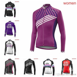 LIV team women Cycling long Sleeves jersey High quality Mtb Bike Clothing  Bicycle Maillot Ciclismo Sportswear Breathable Quick dry 83013J 1e63bc6a9