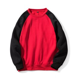 red hoodie blank Canada - Men Cotton Blank Designer Sweatshirt High Streetwear Basic Plain Dyed Men Printing Pullover Hoodies Plus Size Fashion Clothes