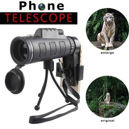 Monocular lens online shopping - Universal Telescope Phone Lens x60 HD zooming Monocular with Clip and Adjustable tripod for Phone Compass Outdoor Camera Telescope