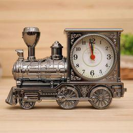 Discount training clock - Vintage Retro Train Desk Clock Home Decor 3 Colors Creative Quartz Clocks Best Promotion Gift with Boxes ZA6819