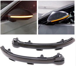 Discount vw golf mirrors - LED Flowing Rear View Dynamic Sequential MIRROR Water Turn Signal Light For VW Golf 7 MK7 VII