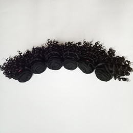 Chinese  Brazilian virgin Hair 300g lot new beautiful short bob type 6inch Kinky Curly hair double weft Indian remy Hair extensions 50g pc 6pcs manufacturers