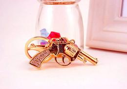 $enCountryForm.capitalKeyWord Canada - 2018 New Pretty Chic Rhinestone Gun Keychains Crystal Bag Pendant Key ring Key chains Gift Jewelry Llaveros for car