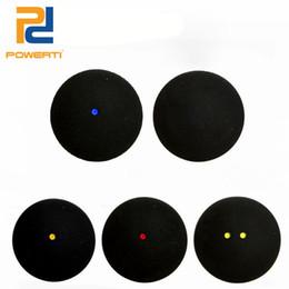 6pcs / box Один / два желтых красных синих тоновых тренировочных сквош-мяча для тренировочного мяча для тренировки Ball High Elastic Speed