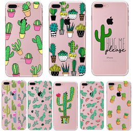 $enCountryForm.capitalKeyWord Australia - Fashion Cactus Plant Flowers Clear Soft TPU Rubber Silicone Back Case Cover Skin For iPhone XR XS Max 5s 6s 7 8 plus