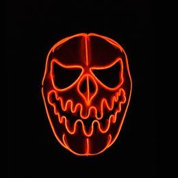 $enCountryForm.capitalKeyWord Australia - Halloween New High-grade Halloween Pumpkin Faces Mask EL Wire Glowing Flexible LED Neon Light For Scary Party Decoration