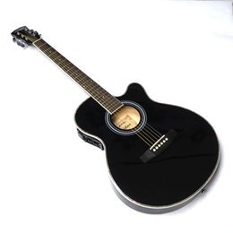 red acoustic electric guitar 2019 - Guitar Acoustic Electric Steel-String Balladry Folk Pop Thin Body Flattop 40 Inch Guitarra 6 String Black Light Cutaway