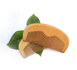 Chinese  Customized Engraved Your Logo Natural Peach Wooden Comb Beard Comb Pocket Comb 11.5*5.5*1cm manufacturers