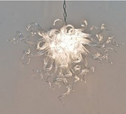 $enCountryForm.capitalKeyWord Australia - Hot Sale Clear Glass Chandelier Lighting for Home Decor Modern Pendant Light New Trending Cheap Hand Blown Glass Crystal Chandelier