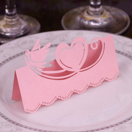 $enCountryForm.capitalKeyWord UK - Laser Cut Place Cards Hollow Paper Name Card With Bird Heart Shell For Party Wedding Seating Cards Wedding Table Decorations PC2003