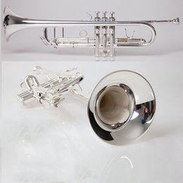 silver plating trumpets NZ - Professional Silver Plated Trumpet TR-600 Brass Musical Instrument Trumpet