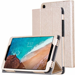mipad tablet NZ - Silking PU Book Flip Cover with Stand for Xiaomi Mipad4 Mi Pad 4 Mipad 4 Tablet Case 8 inch + Stylus Pen New Arrive