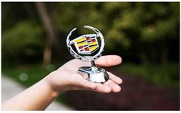 Cadillac ATS-L XTS CT6 CT6-Plug em ESCALAD XT5 3D Grelha de Metal Grade Frente Do Hood logotipo emblema Emblema Adesivo