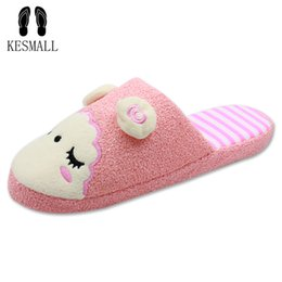 $enCountryForm.capitalKeyWord UK - New Winter Animal Shape Mujer Shoes Slippers Women Home Cute Short Plush Warm Sheep Pregnant Women Floor Slip Slippers WS329