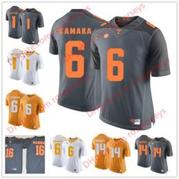 Custom Tennessee Volunteers  6 Alvin Kamara 16 Peyton Manning 1 Jason  Witten 14 Eric Berry Orange Gray White NCAA College Football Jerseys 8deac429b