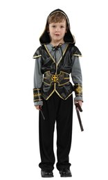 hunter clothes NZ - Shanghai Story Halloween Children 's Performance Costumes Boy Crusader Hunter Clothing Indian Prince