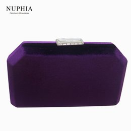 $enCountryForm.capitalKeyWord NZ - NUPHIA 2018 New Velvet Fabric Evening Bags and Clutches for Party Prom Evening Green Purple Navy blue Red Y18103004