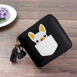 $enCountryForm.capitalKeyWord Australia - Fashion Style PU Leather Women's Short Cartoon Cute Dog Animal Pattern Zipper Wallet 6 Colors