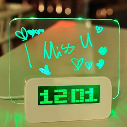 Wholesale Blue LED Luminous Message Board High Quality Digital Alarm Clock with Port USB Hub Temperature Calendar Computer HIGHSTAR
