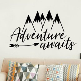 $enCountryForm.capitalKeyWord Australia - Wall Decal Mountain Arrow Pattern Wall Stickers Quotes Adventure Awaits For Kid Room Boy Bedroom Removable Home Decor