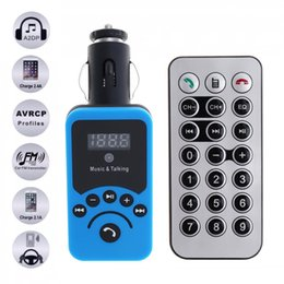 Discount free mp3 music - Car LCD Bluetooth MP3 Music Player Kit Auto Radio Player Hands-free FM Transmitter with Remote Control