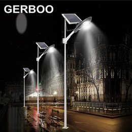 2018 timer panel 2017 Solar Street Light 16V 60W Solar Panel LED COB 30W Outdoor Garden Path Lights with light control + timer timer panel on sale