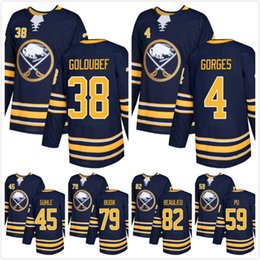 af21e7548 7 Photos Jerseys 82 black online shopping - MENS Buffalo SABRES Navy Cody  Goloubef Josh Gorges Brendan Guhle