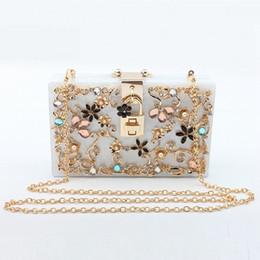 Crystal designer evening bags online shopping - Luxury Handbags Women Bags Designer Brand Party Clutch Bag Crystal Evening Wedding Bags For Women Female Acrylic Minaudiere