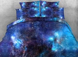 Beautiful Modern Bedding Australia - 3pcs HD Digital Print Beautiful Galaxy   universal   planet etc. printed duvet cover set queen size bedding sets