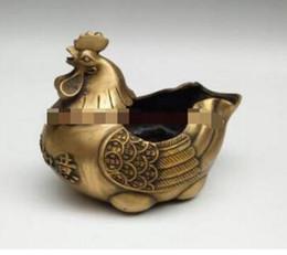 Decorative Art China Australia - WBY--- +++Copper ornaments chicken ashtray is auspicious decorative bronze Home Furnishing felicitous wish of maki