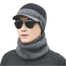 8e1377f29f1aa Warm 2 Pieces Set Winter Plus Velvet Hats Scarf For Women Men Thick Cotton  Winter Accessories Set Female Male Beanie Scarf Sets