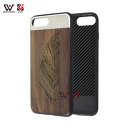 Luxury I Phone Case Canada - Multi design wood aluminum metal hard case for iPhone 6 6s , luxury bamboo walnut wooden tpu case for Apple i Phone 6 s