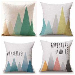 Discount arrow pillow covers Cushion Covers Nordic Geometric Arrows Rhombus Pillow Cover Linen Cotton Beige Pillow Case Set of 4
