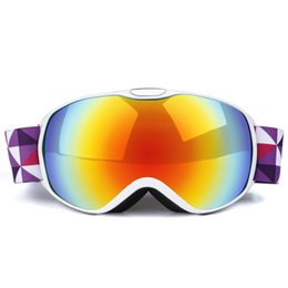 Girls Ski Goggles Australia - Double Layer Lens Kids Snow Goggles Anti-fog Snowboarding Goggles Boys Girls Ski Eyewear Skiing Glasses For Children S107G