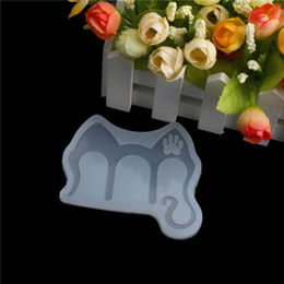 cat silicone mould 2019 - 1 Piece Creative DIY Handmade Cat Ear Music Clip Clear Silicone Mould Meaningful Resin Jewelry Pendant Mold Tools 9*6.5c