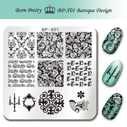 $enCountryForm.capitalKeyWord NZ - BORN PRETTY 6*6cm Square Nail Art Stamp Stamping Plates Template Baroque Design Floral Image Plate for Nails BP-X01