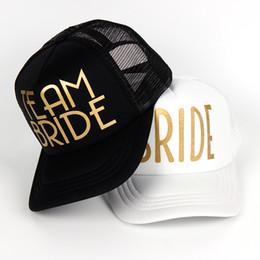 383b7c6a07d branded baseball mesh caps 2019 - TEAM BRIDE SQUAD Woman Snapback Caps Hip  Hop Gold Print