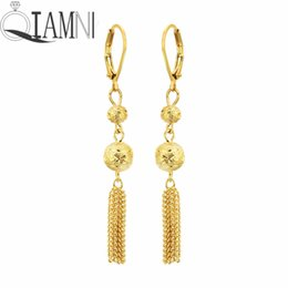 Beautiful New Gorgeous Double Hoop Tennis Tassel Drop Dangle Earrings For Women 2 Colors Yellow White Gold Color Prom Ball Jewelry Aros Earrings Jewelry & Accessories