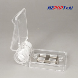 Office Binding Supplies Clips Symbol Of The Brand Plastic Clear Pc Pop Paper Price Label Sales Card Display Show Clamp Clip Holders For Seafood Area Glass Promotions 1000pcs