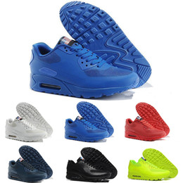 new style 8f7f4 66f3b 2018 Brand New Haute Qualité Hommes Womens Classique Nike Air Max 90 KPU Casual  Chaussures Noir Blanc Hommes Femmes Formateurs Homme en plein air Marche ...